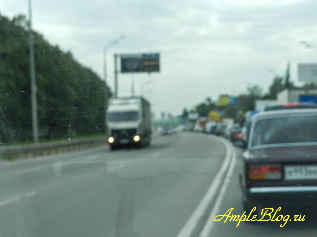 Пробка на Ярославском шоссе за МКАД