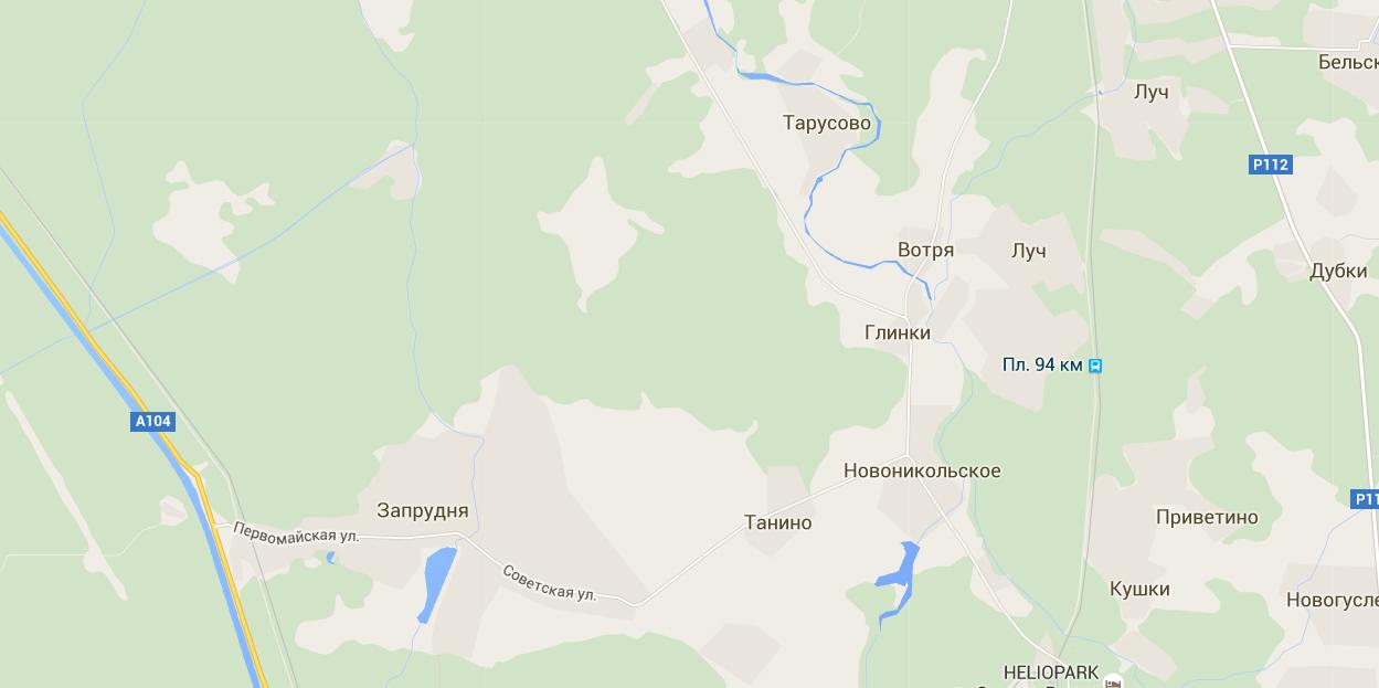 Река Дубна карта