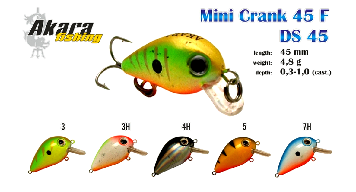 Воблер AKARA Mini Crank 45 F
