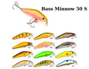 Воблер RAIDEN «Bass Minnow» 50 S-вес 3 грамма размер-50 мм