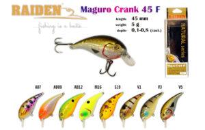 Воблер RAIDEN «Maguro Crank» 45 F-вес 5 грамм размер-45 мм