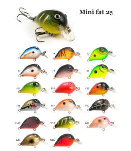 Воблер RAIDEN «Mini Fat» 25 F-вес 2,9 грамма размер-25 мм