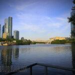 Окуневая рыбалка у Москва-сити